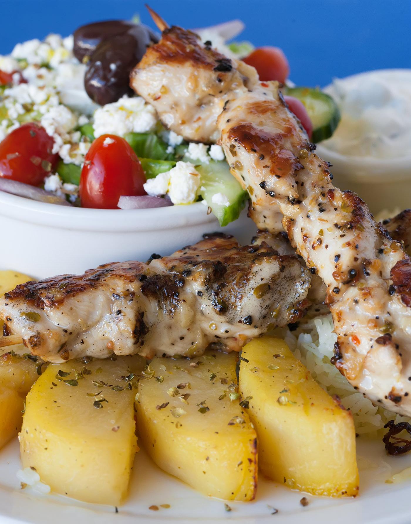 chicken-souvlaki-on-a-plate
